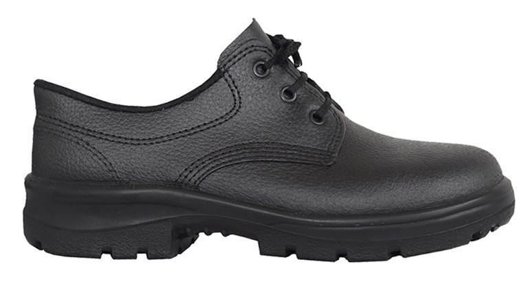 0f5f74f8d Sapato de Segurança Preto Com Cadarço Sem Bico