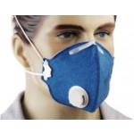 Máscara PFF1 Com Válvula Feltro Azul (Ref. AZ0285)